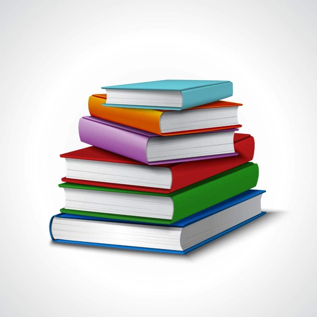 illustration d'une pile de livres